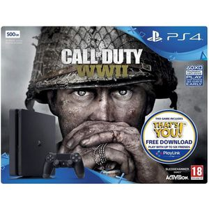 CONSOLE PS4 PS4 500 Go + Call of Duty WW2 + PSN 14 Jours
