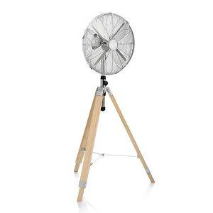 VENTILATEUR Ventilateur sur Pied avec Trépied en Bois Tristar