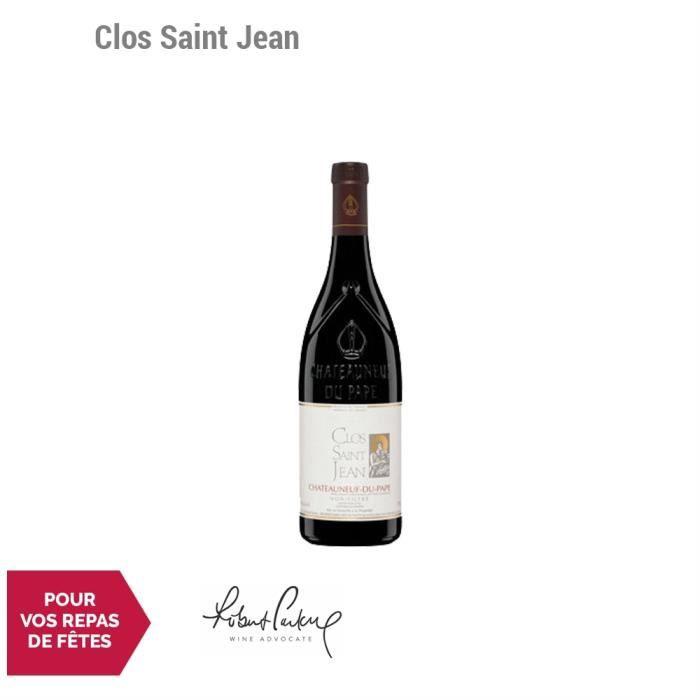 Clos Saint Jean Châteauneuf-du-Pape Rouge 2015 - 75cl - Vin AOC Rouge de la Vallée du Rhône - 92-100 Robert Parker - Cépages