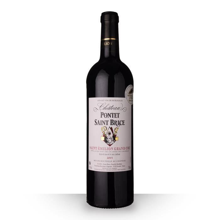 Château Pontet Saint-Brice 2015 AOC Saint-Emilion Grand Cru - 75cl - Vin Rouge