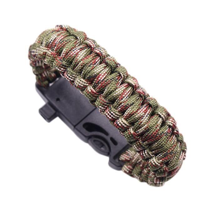 Bracelet en parachute de survie Compass Flint Allume-feu Whistle Camping Kits de vitesse ZSB70424572C_1904