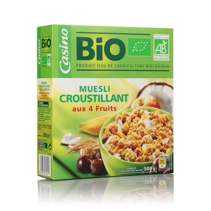DAILYCER Muesli Croustillant aux Fruits et Graines - 500 g