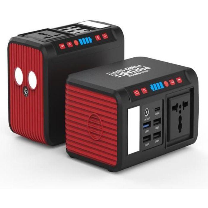 S81 220V générateur d'énergie solaire centrale d'énergie portable avec sortie CA 80W générateur solaire CA Power Bank chargeur d'ord