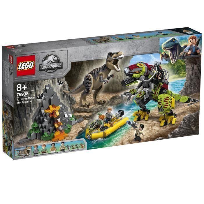 LEGO® Jurassic World™ 75938 La bataille du T. rex contre le Dino-Mech - Jeu de construction