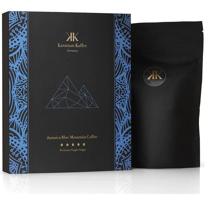 KARAMAN KAFFEE Café en grains Jamaica Blue Mountain Premium – Café torréfié 100 % arabica cueilli à la main dans le commerce éq 562