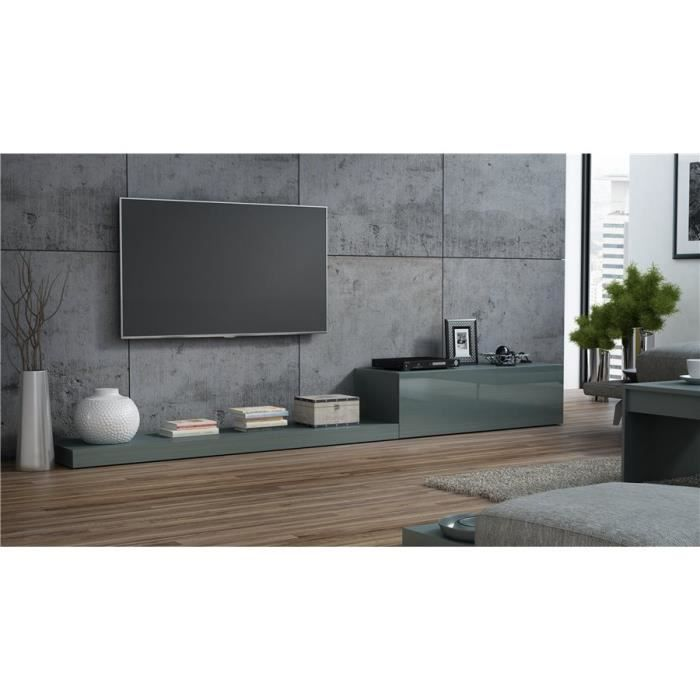 Ensemble meuble TV design LIME II - Gris