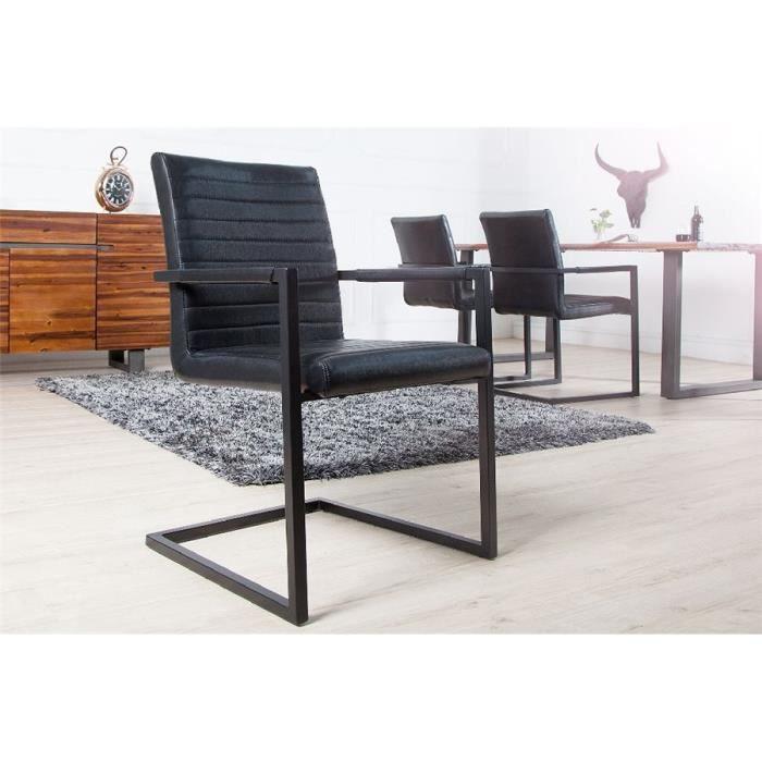Chaise design DAISY II - Par 4 - Noir