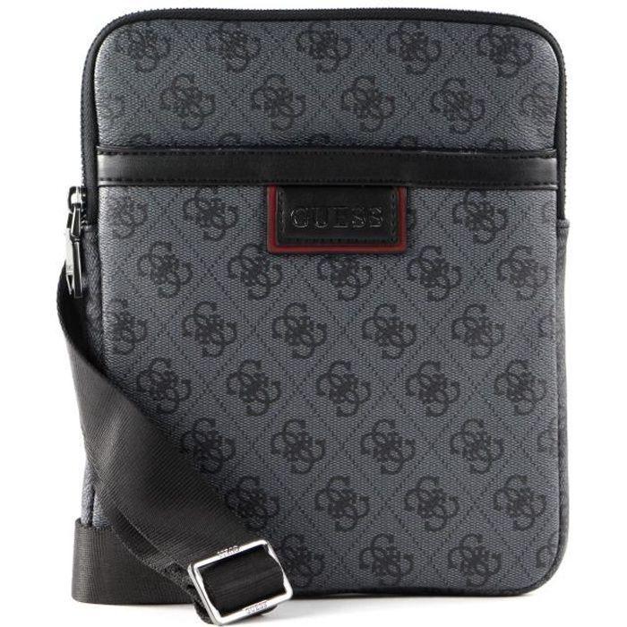 GUESS Vezzola Crossbody Flat Bag Black [119866] - sac à épaule bandoulière sacoche