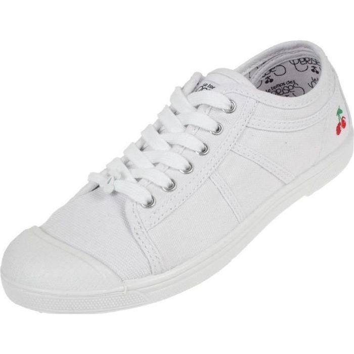Chaussures basses toile Basic 02 white - Le temps des cerises