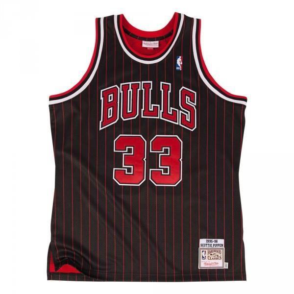Maillot NBA swingman Scottie Pippen Chicago Bulls 1995-96 Hardwood Classics Mitchell amp ness noir