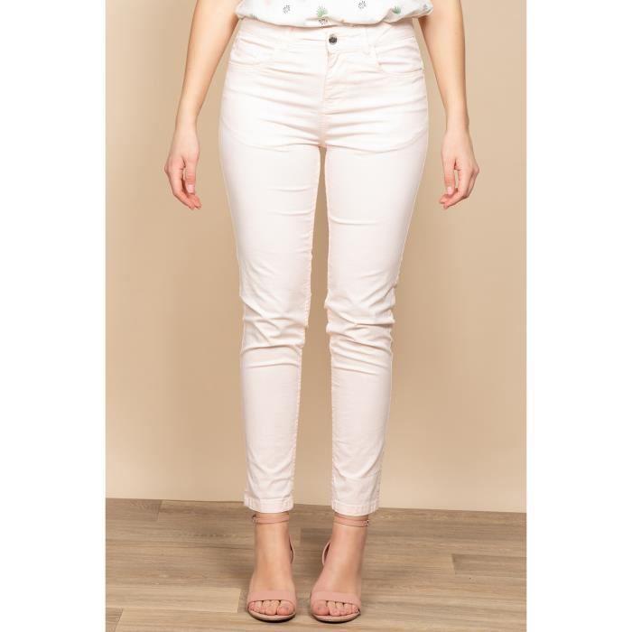DEELUXE Pantalon slim 5 poches POLY Pearl