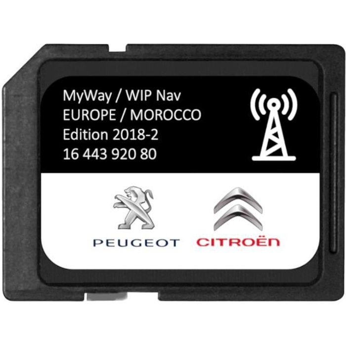 Version 2018/2019 Carte SD GPS Europe RNEG 2018-2 Peugeot Citroen
