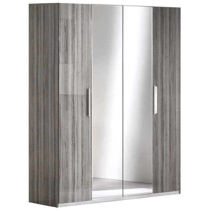 Betty Armoire 4 Portes Avec Miroir Central Achat Vente Armoire De Chambre Betty Armoire 4 Portes Avec Cdiscount