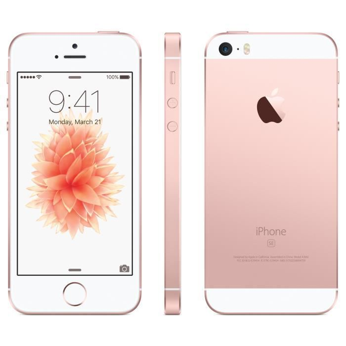 apple iphone se 16 go rose or debloque achat smartphone pas cher avis et meilleur prix. Black Bedroom Furniture Sets. Home Design Ideas