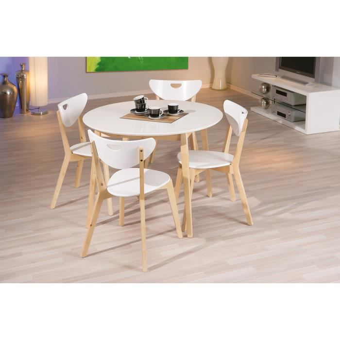 chaises de cuisine bois amy x2 couleur blanc achat vente chaise mati re de la structure. Black Bedroom Furniture Sets. Home Design Ideas