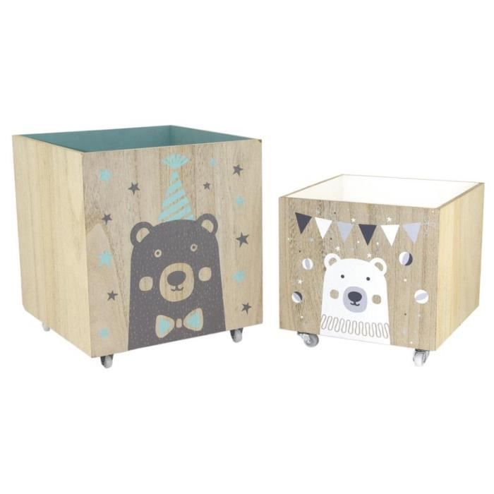 coffre jouets en bois roulettes achat vente coffre. Black Bedroom Furniture Sets. Home Design Ideas