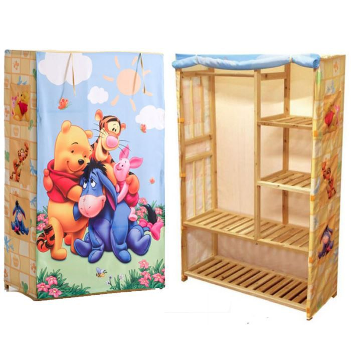 penderie armoire winnie l 39 ourson disney achat vente penderie mobile penderie armoire winnie. Black Bedroom Furniture Sets. Home Design Ideas