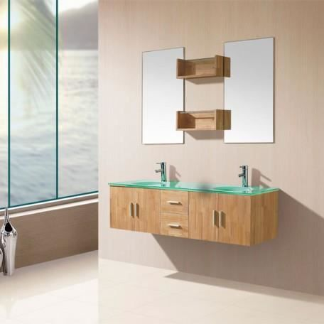 sd9221bn meuble salle de bain coloris bois naturel achat vente ensemble meuble sdb sd9221bn. Black Bedroom Furniture Sets. Home Design Ideas
