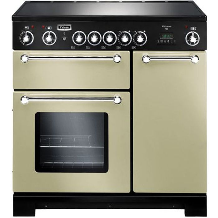KITCHNER 90 CREME CHROME 2FOURS + 5 FEUX GAZ - Achat / Vente ...