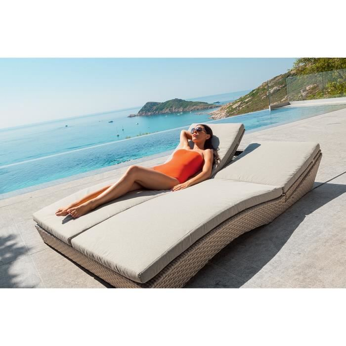 lit de piscine double alfama achat vente chaise longue. Black Bedroom Furniture Sets. Home Design Ideas