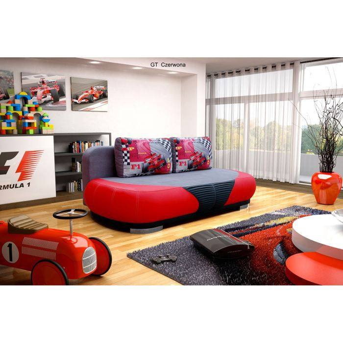 canap convertible pour enfant gt rouge achat vente canap sofa divan cdiscount. Black Bedroom Furniture Sets. Home Design Ideas