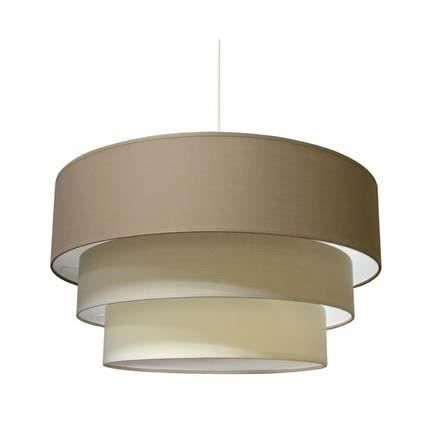 Suspension planete taupe nature creme achat vente for Suspension nature