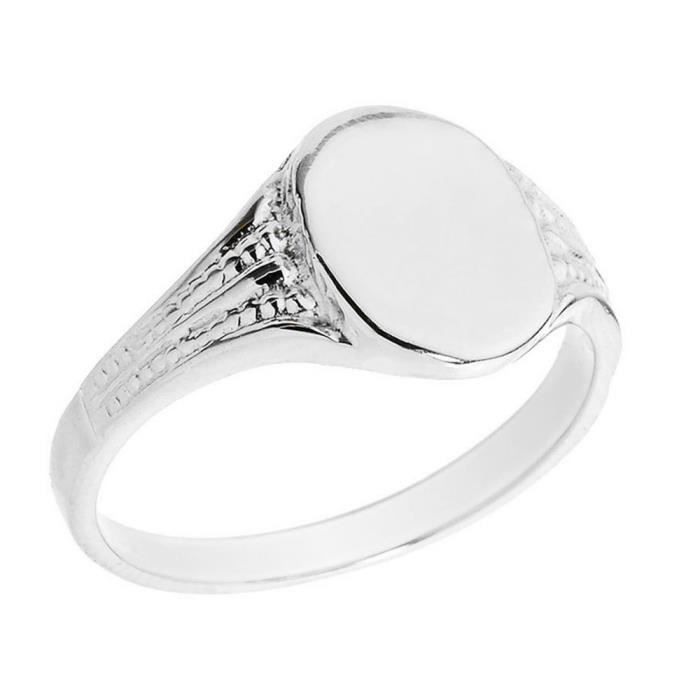 bague homme chevaliere or blanc