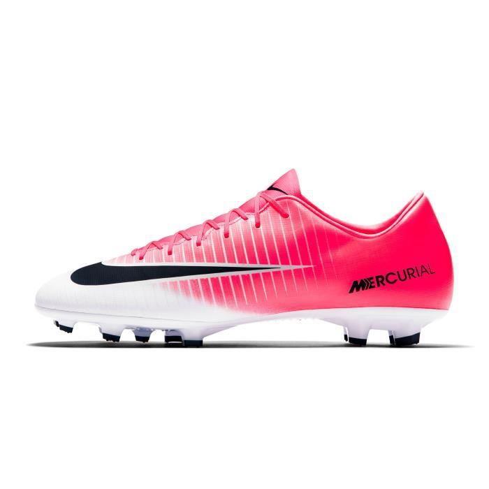 350a80a7454 Chaussures football Nike Mercurial Victory VI FG Rose Blanc - Prix ...