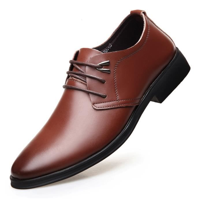 Business Richelieu Casual Chaussures Homme Cuir 1Jul3cTFK
