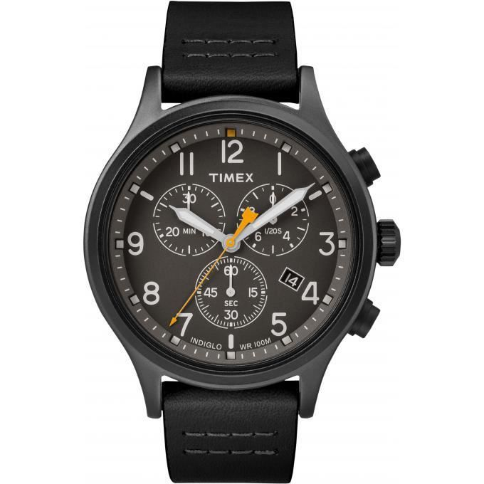 Homme Montre Cuir Timex Tw2r47500d7 Chronographe Noir LqVSzpGUM