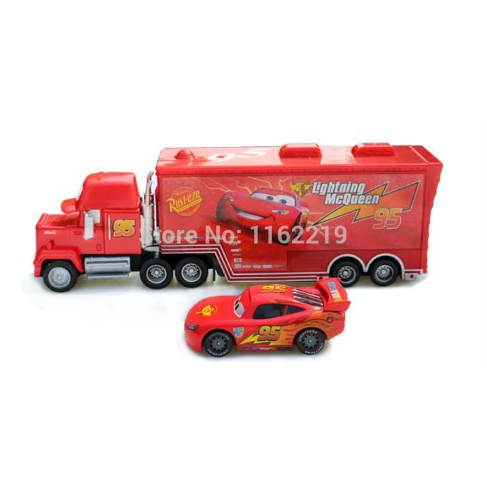 pixar cars 2 metal diecast toy car camion mack hauler et 95 racer vacances cadeaux achat. Black Bedroom Furniture Sets. Home Design Ideas