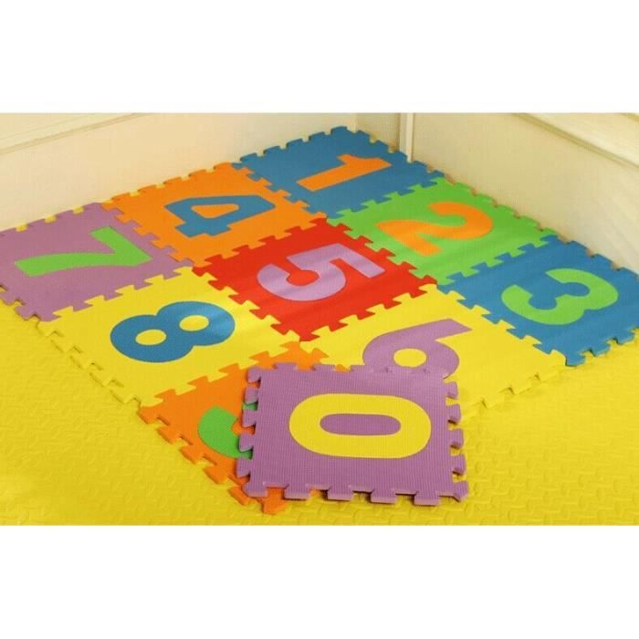 tapis de jeu en mousse puzzle pour enfant chiffres 30. Black Bedroom Furniture Sets. Home Design Ideas