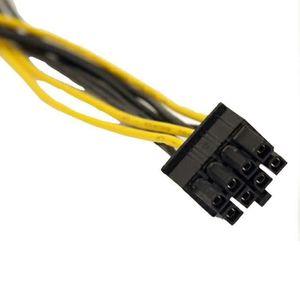 CARTE GRAPHIQUE INTERNE Dual Molex LP4 Câble de câble d'alimentation pour