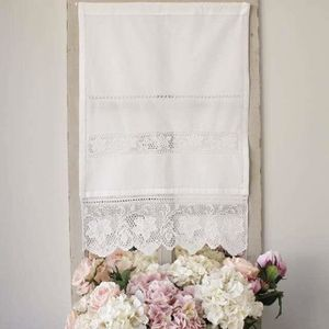 BRISE-BISE Voilage Brise Bise Broderie Coton - taille:50 X 60