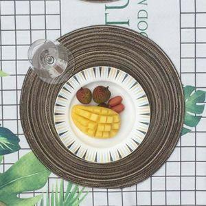 SET DE TABLE Cercle rond napperons Table Sets de table de cuisi