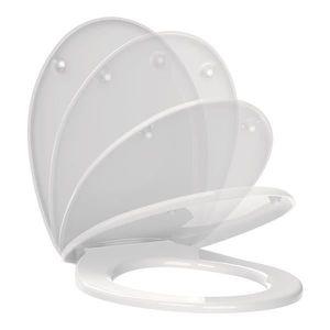 Montage facile Charni/ères solides Abattant de WC avec dispositif de frein de chute Surface de qualit/é sup/érieure