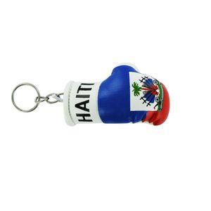 PORTE-CLÉS Porte cles  gant de boxe drapeau haiti