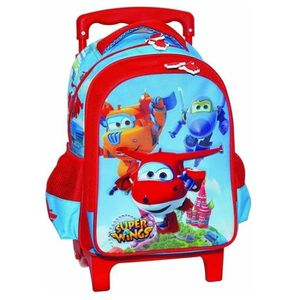 CARTABLE Sac à roulettes trolley maternelle Super Wings 31