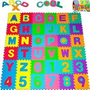 PUZZLE Puzzle tapis mousse 86 pièces Alphabet et chiffres