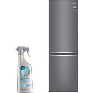RÉFRIGÉRATEUR CLASSIQUE LG réfrigérateur frigo combiné inox 341L A++ Froid