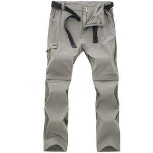 PANTALON - SHORT DE MONTAGNE Pantalon Randonnée Homme Convertible Extensible Pa