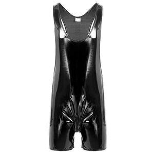 GAINE - COMBINAISON Adulte Homme Sexy Noir Gilet Combinaison cuir Vern