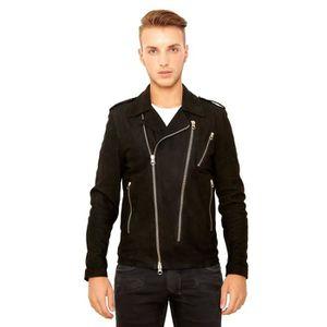 BLOUSON JACK • couleur noir • blouson cuir homme perfecto