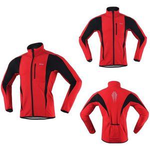 MagiDeal Gymnastique Soft Shell Polaire Thermique Veste de Cyclisme Automne Hiver Sportswear Unisexe Imperm/éable et Coupe-vent