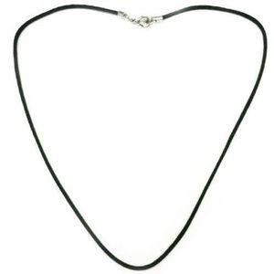 SAUTOIR ET COLLIER COLLIER CORDON Noir Coton huilé Brillant 1,5mm (35