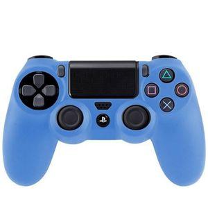 HOUSSE DE TRANSPORT Étui bleu en silicone pour manette de jeux Sony PS
