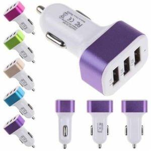 PRISE ALLUME-CIGARE Chargeur Voiture 3 Ports USB adaptateur Pour smart