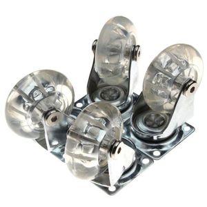 ROUE - ROULETTE Roulette transparente en PU Roulette de meuble rob