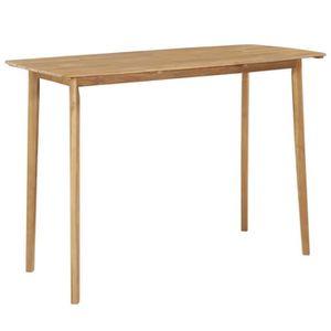 TABLE À MANGER SEULE Table de bar Bois d'acacia massif 150 x 70 x 105 c