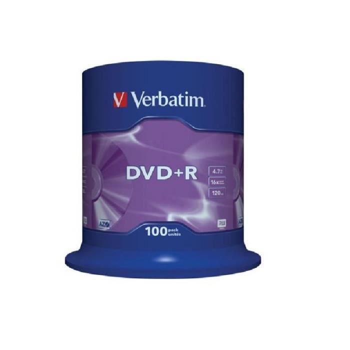 Verbatim DVD+R x 100 - 4.7 Go